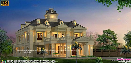 Colonial style super luxury House design