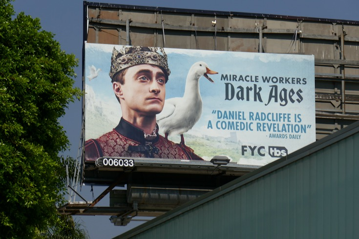Daniel Radcliffe Miracle Workers Dark Ages Emmy FYC billboard
