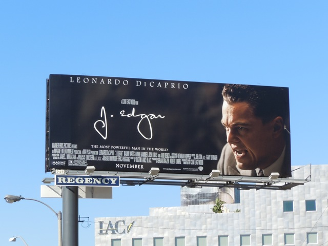 J Edgar film billboard