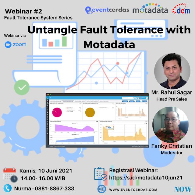 Ikuti Webinar Untangle Fault Tolerance with Motadata 10 Juni 2021