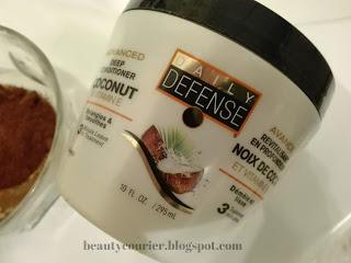 f965f1e311d216 Zwykle używam maski Daily Defense Coconut, ponieważ jej zapach świetnie  komponuje się z zapachem kakao. Sama maska sprawdza się u mnie dobrze  również solo.