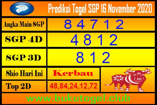Syair Sgp 16 November 2020