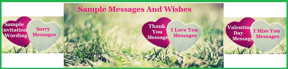 Sample Messages and Wishes