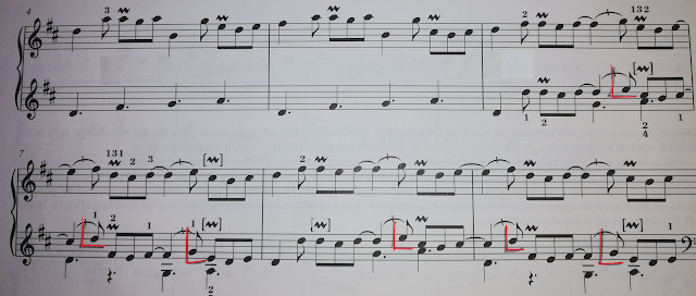 Aternative fingering to ABRSM edition
