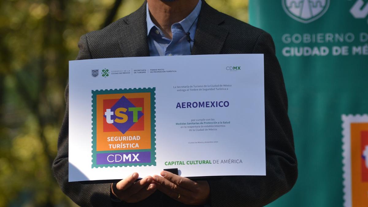 SECTUR CDMX AEROMÉXICO TIMBRE SEGURIDAD TURÍSTICA 02
