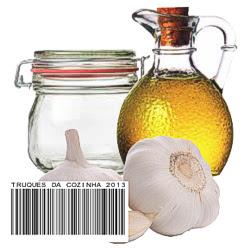 alho em conserva no azeite caseiro