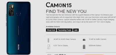 Tecno Camon 15 price specifications