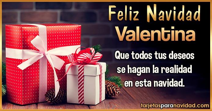 Feliz Navidad Valentina