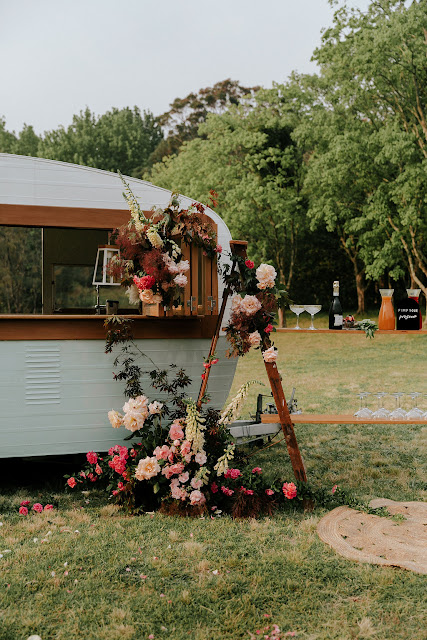 leiafae weddings photography neon sign styling glamping signage floral designer flowers bridal gowns hairstyles makeup