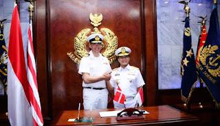 TNI AL Kerja Sama dengan AL Denmark
