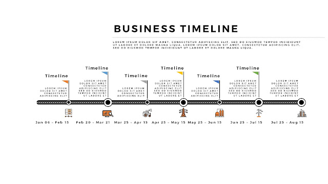 Free Horizontal Business Timeline PowerPoint Template Slide 3