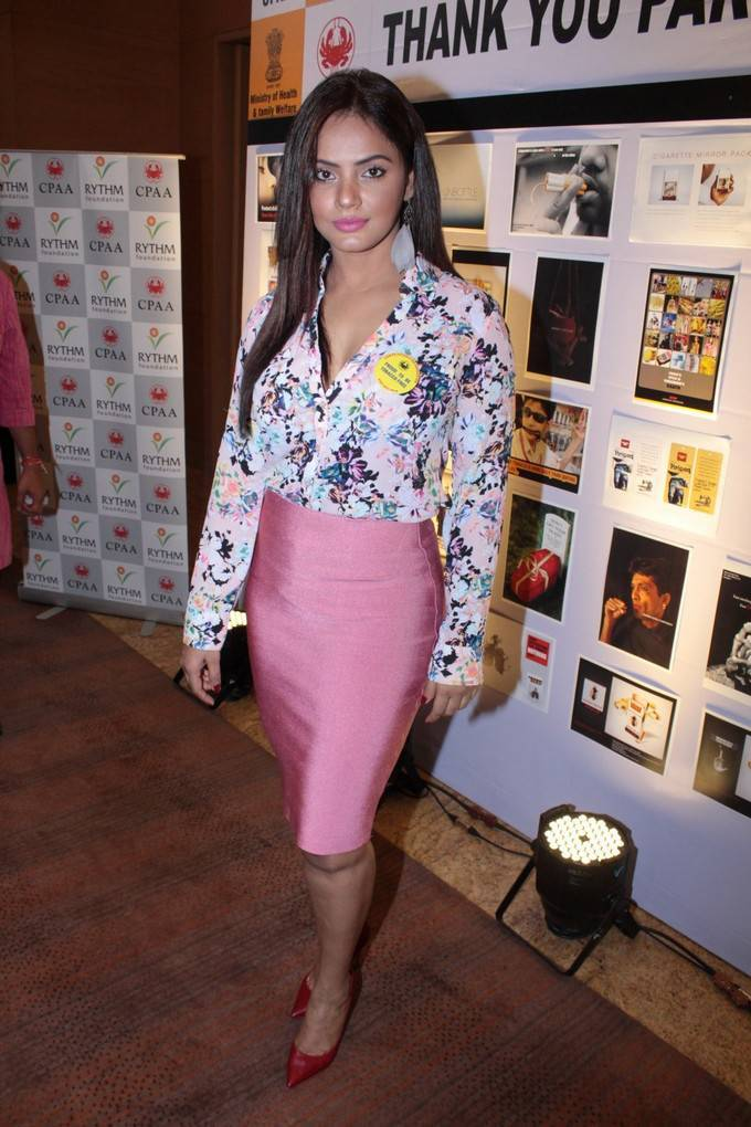 Neetu Chandra At To Say No To Tobacco & Yes To Life Press Conference Stills