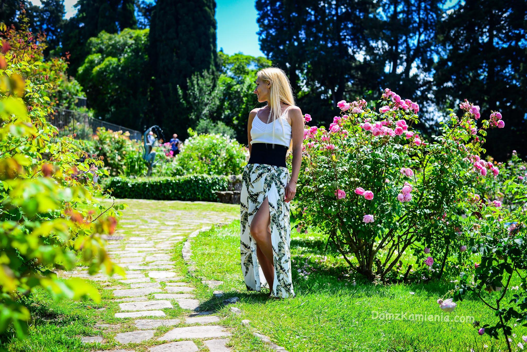 Dom z Kamienia blog, Ogród Róż - Florencja