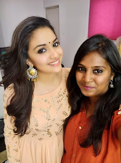 Keerthy Suresh with Cute and Awesome Lovely Smile with Vavveti Usha 1