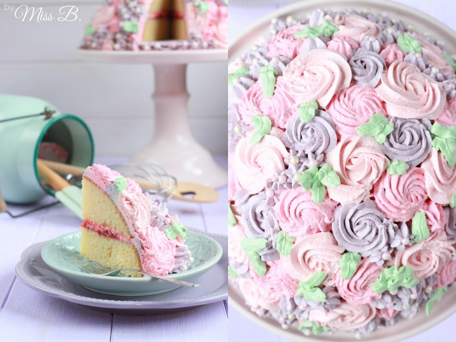 Miss Blueberrymuffin S Kitchen Madchenhafte Kuppel Rosen Torte