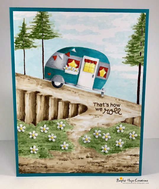 Cozy Campers Card by August Guest Designer Kara Pogreba | Cozy Campers Stamp Set by Newton's Nook Designs #newtonsnook #handmade