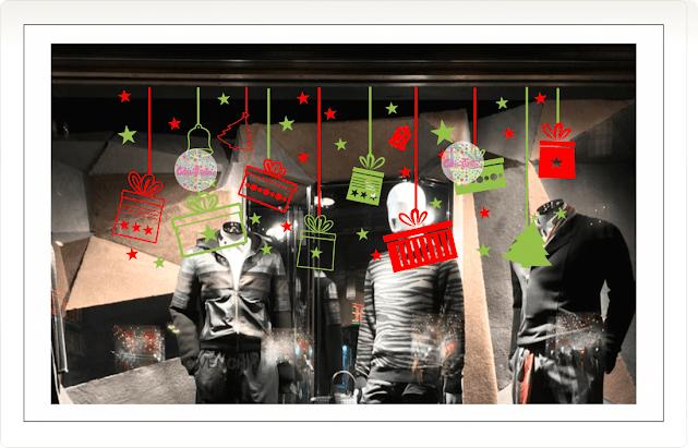 vinilos navidad navideños fiestas colgantes regalos