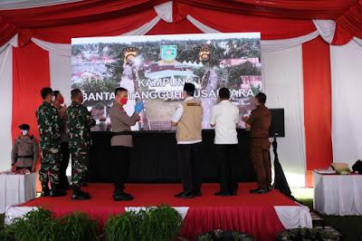 Kapolda dan Danrem serta Forkopimda Kota Jambi Resmikan Kampung Bantar Tangguh Nusantara