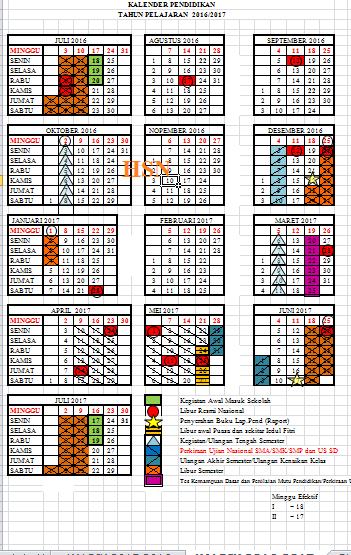 Download Kalender Pendidikan 2018 2019 Edu Math Dot Com