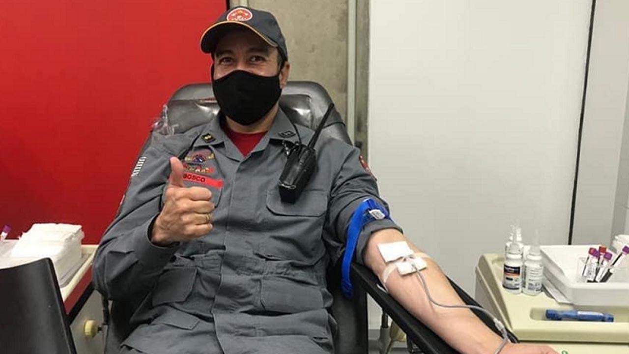 Corpo de Bombeiros se mobiliza para aumentar o estoque de sangue em hemocentros do Estado