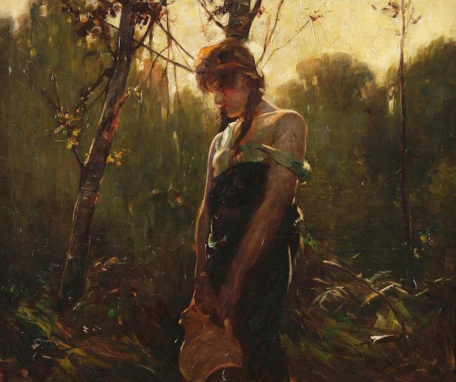 Arthur Spooner - Girl in a Wooded Landscape