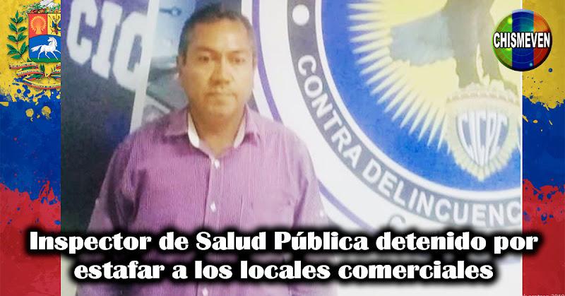Inspector de Salud Pública detenido por estafar a los locales comerciales