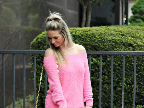Pink Spring OTS Sweater