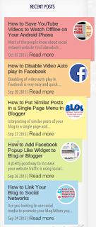 Blogger recent posts widget