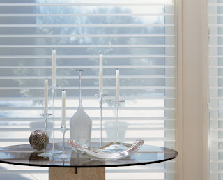 PowerView Motorization adds convenience to the operation of a beautiful shade such as Silhouette.