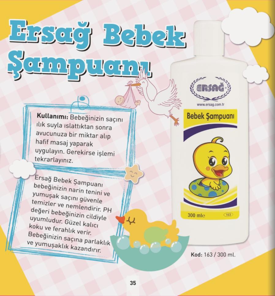 Ersağ Bebek Şampuanı 300 ml.
