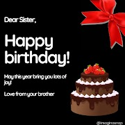 Happy Birthday wishes for sister with images - free download in HD