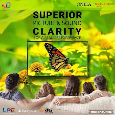 india top smart tv brand onid