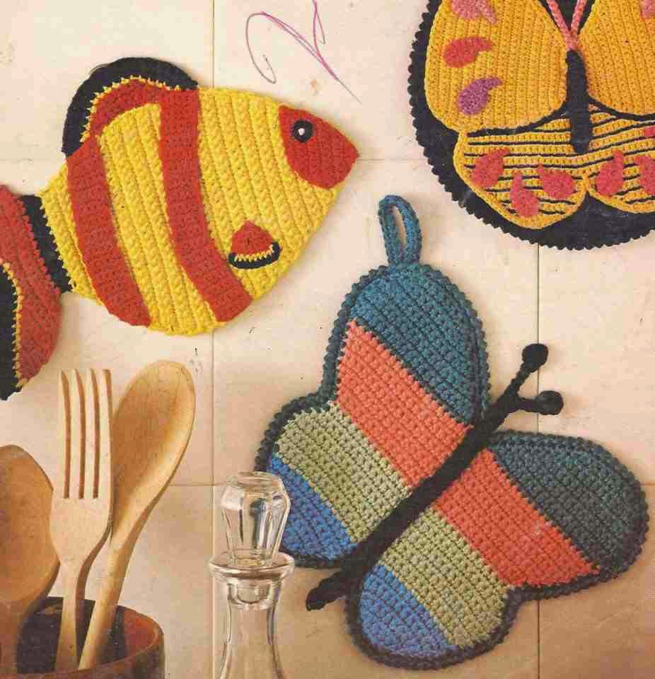 Agarra Ollas a Crochet