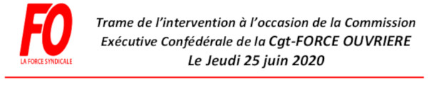 CE CONFÉDÉRALE: INTERVENTION DE MICHEL LE ROC'H