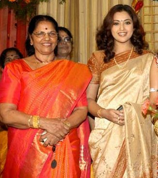 actress meena family photos