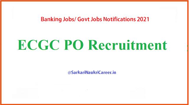 ECGC PO Recruitment 2021
