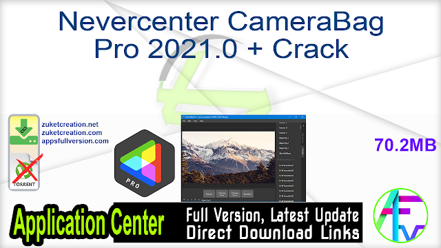 Nevercenter CameraBag Pro 2021.0 + Crack
