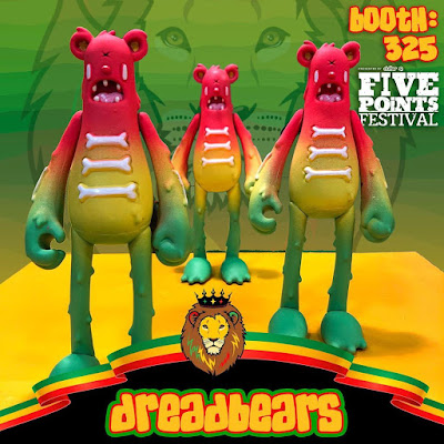 Five Points Festival 2019 Exclusive DreadBear Dead Bear Vinyl Figures by Nicky Davis