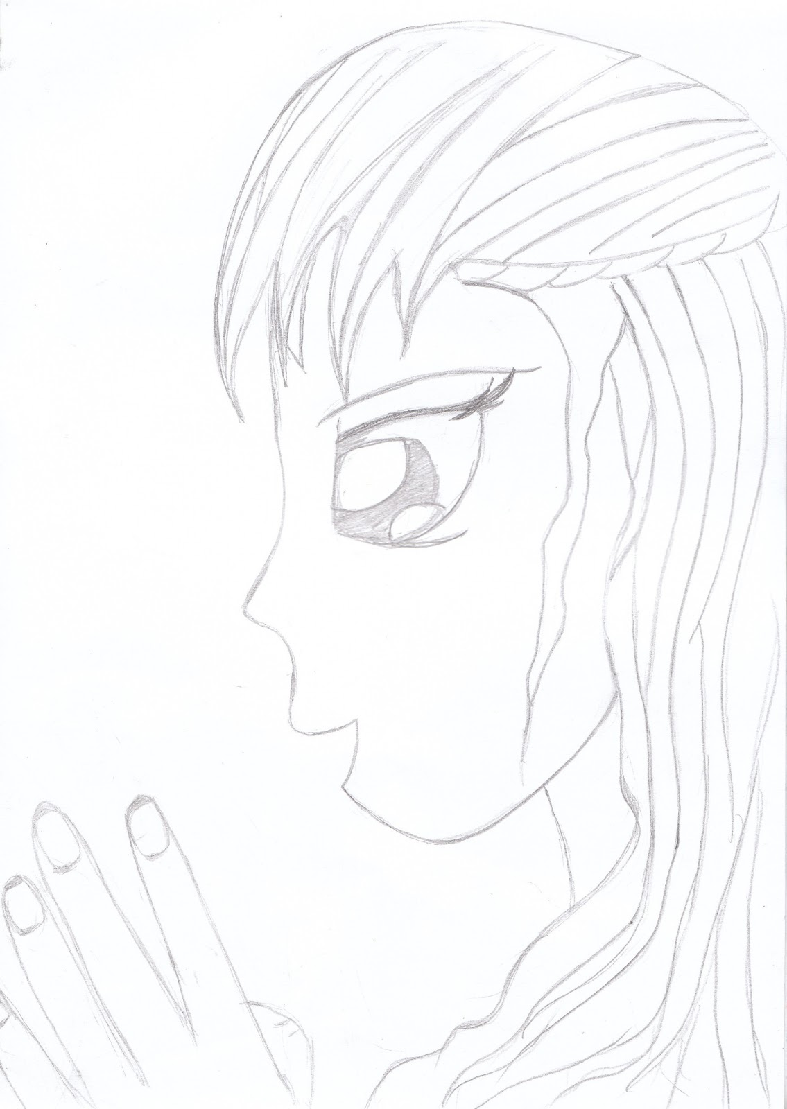 Gambar Sketsa Wajah Wanita Dari Samping