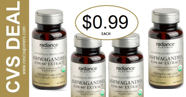 Radiance Platinum Vitamin CVS Deal $0.99 12-29-1-4