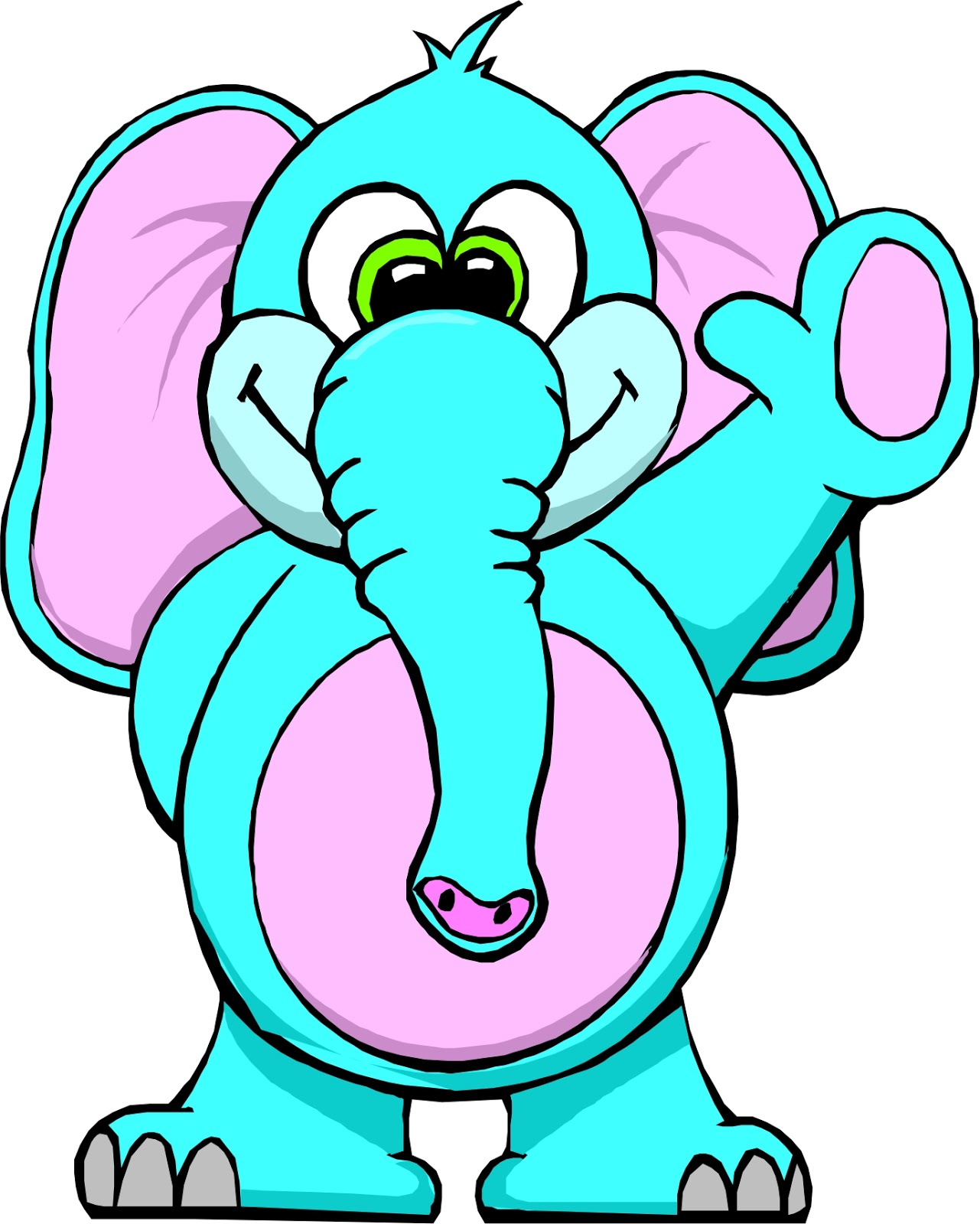 cute elephant cartoon vector art african elephant coloring pages