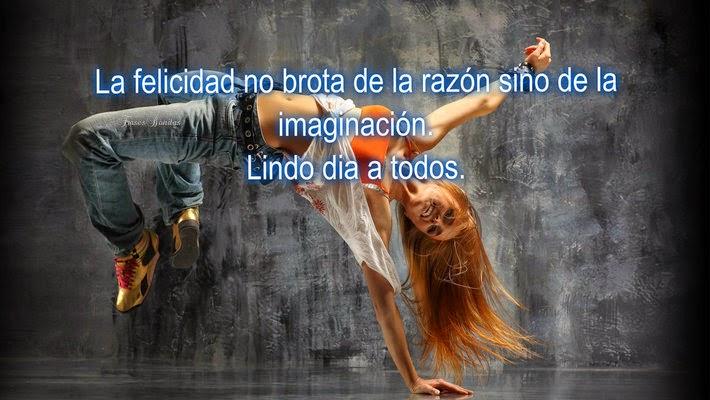 La felicidad no brota de la razón sino de la imaginación.