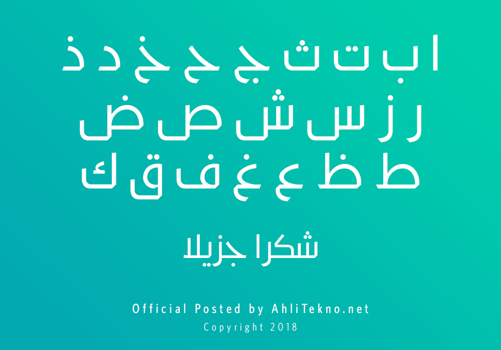 kumpulan font typography arabic keren (Kufyan Arabic)