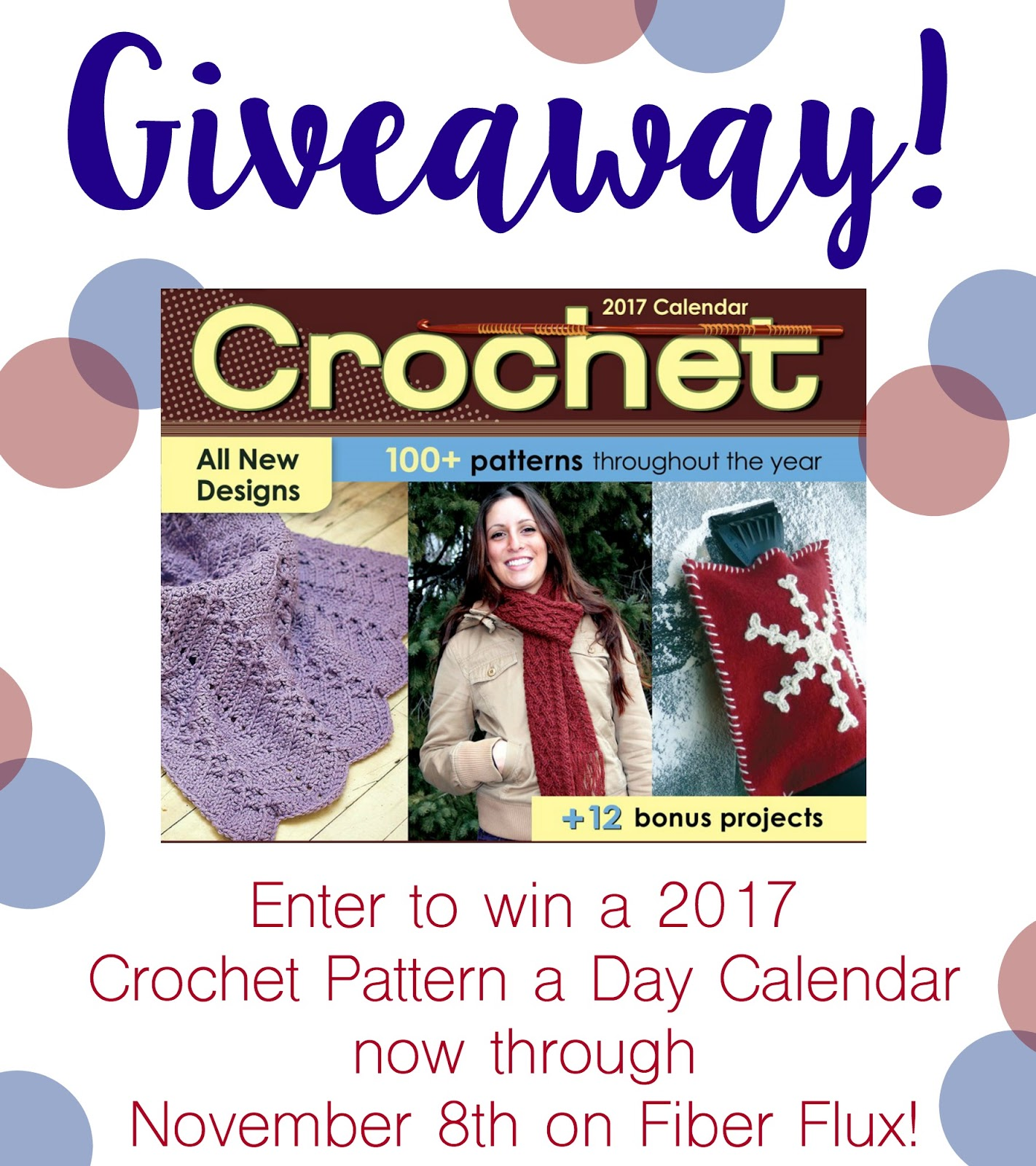 calendar sweepstakes fiber flux crochet pattern a day calendar giveaway 5830