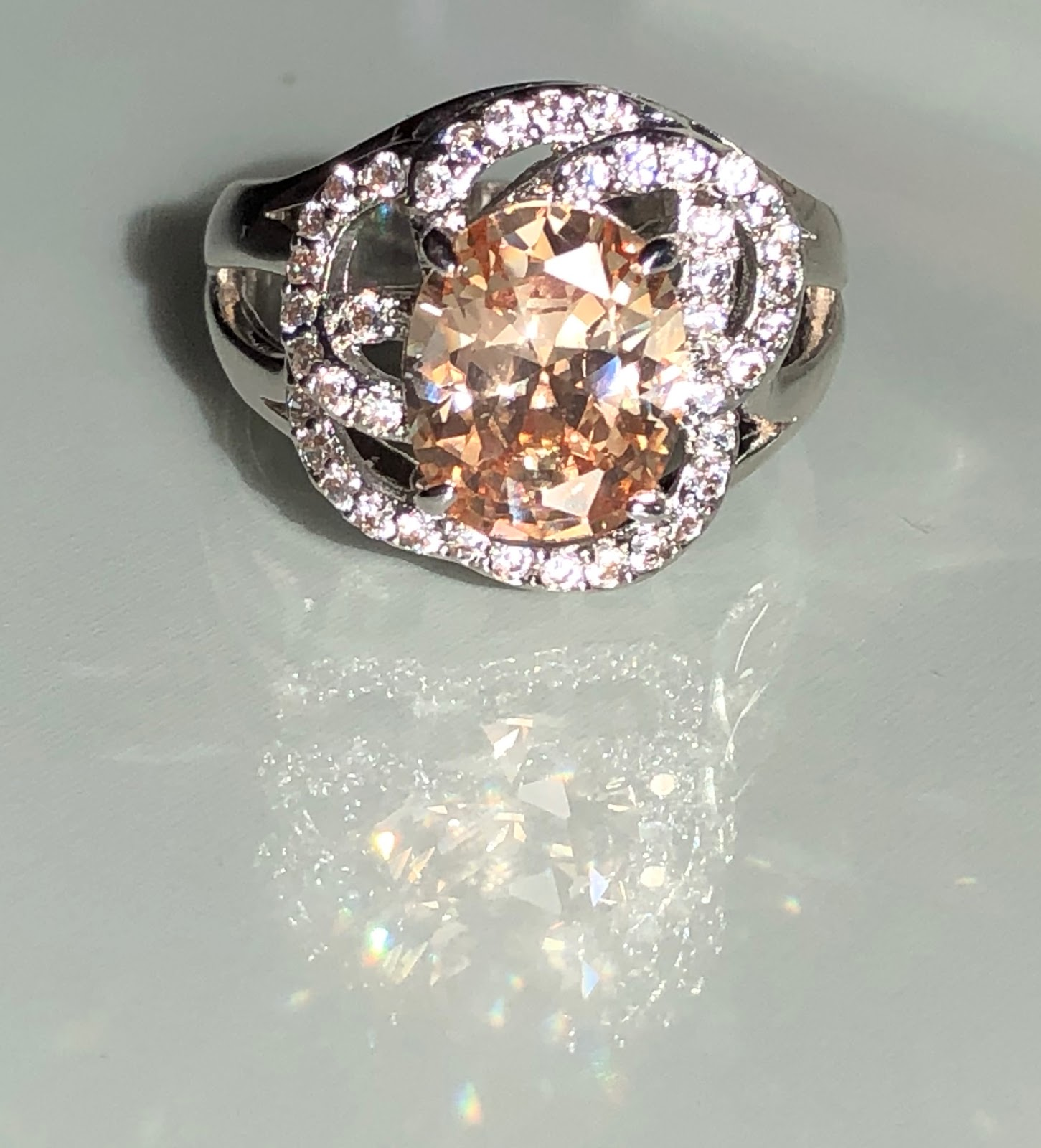pink henri diamond line light band rings of daussi diamonds fancy single