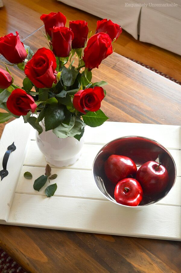 Red Roses In The Living Room