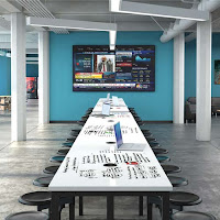 OFM Dry Erase Conference Table with Powered Top at OfficeAnything.com