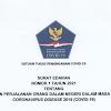 Inilah Edaran Satgas COVID-19 tentang Ketentuan Perjalanan Dalam Negeri Pada 9-25 Januari 2021