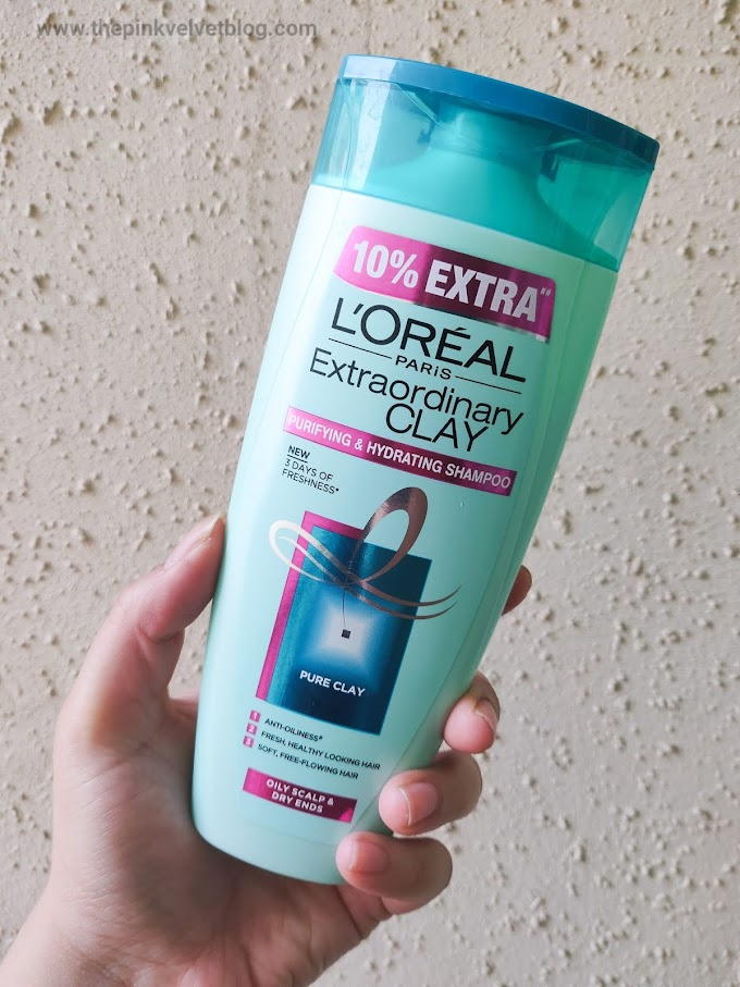 L'OREAL Purifying Clay Shampoo - Review | For Oily Scalp and Dry Ends