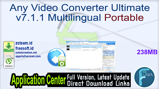 Any Video Converter Ultimate v7.1.1 Multilingual Portable